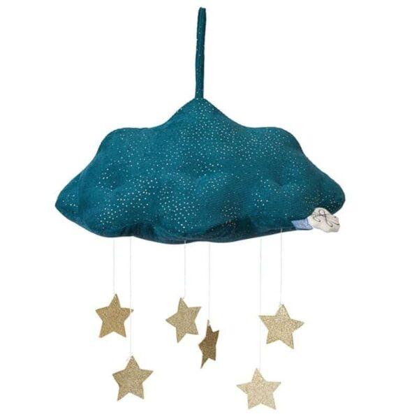 Zawieszka nad łóżeczko mobile Sparkle Cloud Blue