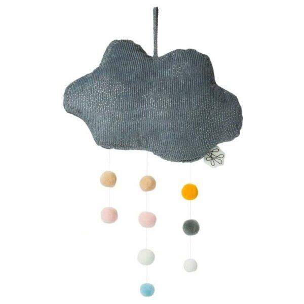 Zawieszka nad łóżeczko mobile Sparkle Cloud pompons