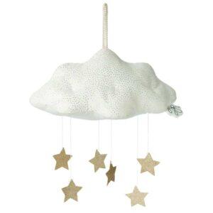 Zawieszka nad łóżeczko mobile Sparkle Cloud White
