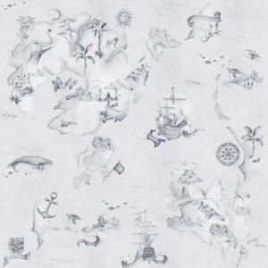 Tapeta dla dzieci Stories From The Sea Blue
