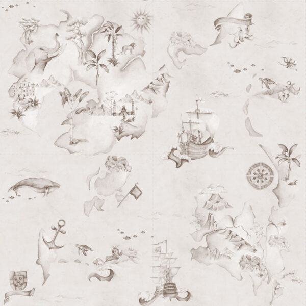 Tapeta dla dzieci Stories From The Sea Sepia