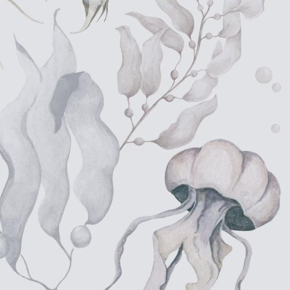 tapeta meduzy color2 100x280 595x595 1 - Tapeta dla dzieci Magia Oceanu Color