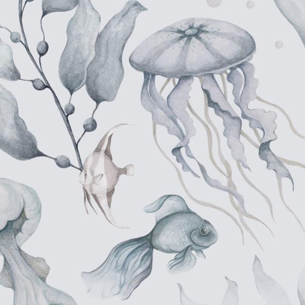 tapeta meduzy color3 100x280 595x595 1 - Tapeta dla dzieci Magia Oceanu Color