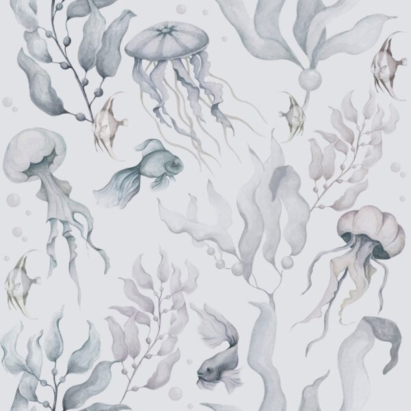 tapeta meduzy color 100x280 600x600 - Tapeta dla dzieci Magia Oceanu Color