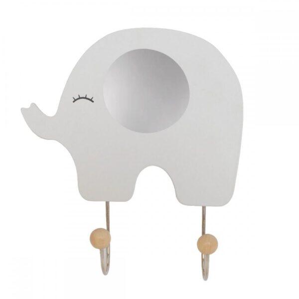Wieszak szary słoń