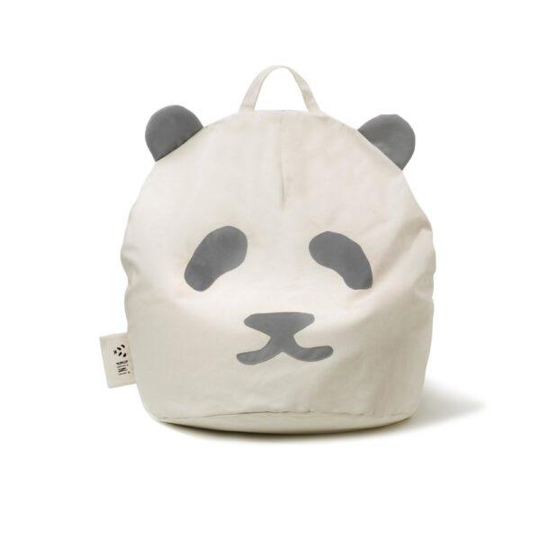 Pufa dla dzieci PANDA GREY
