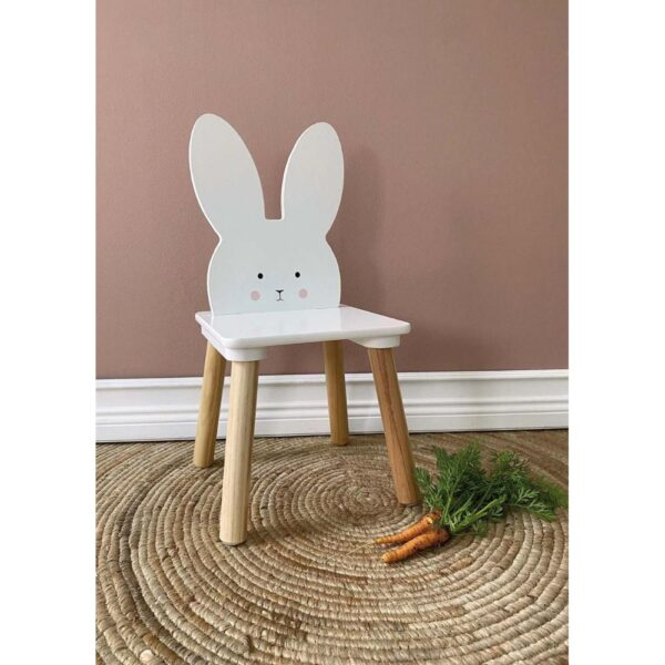 Krzesełko dla dziecka królik biały