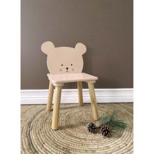 Krzesełko dla dziecka miś różowy