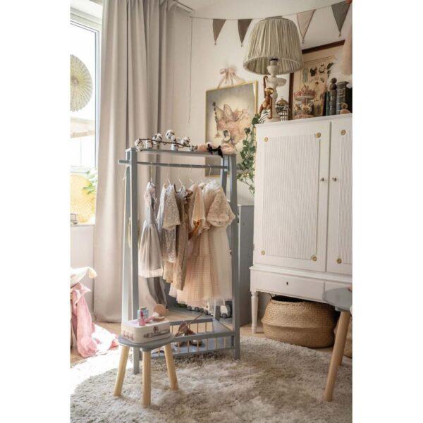 Duży wieszak garderoba srebrny