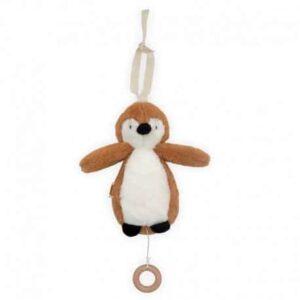 Pozytywka dla niemowlaka Pingwin Caramel