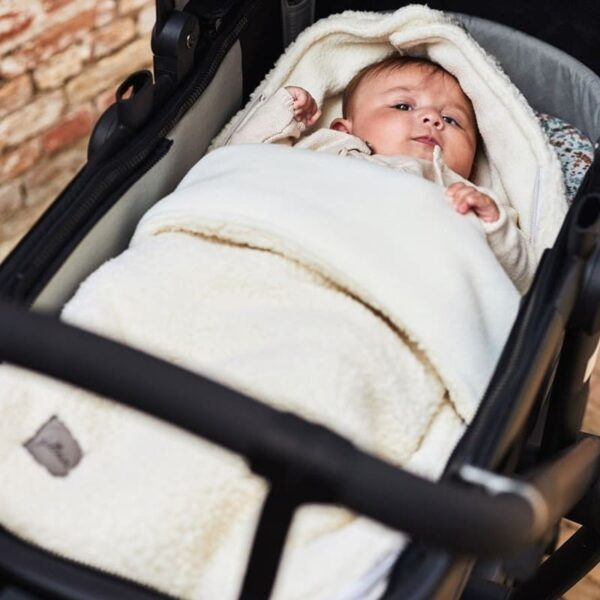 Śpiworek do fotelika i wózka Bliss Knit Cream