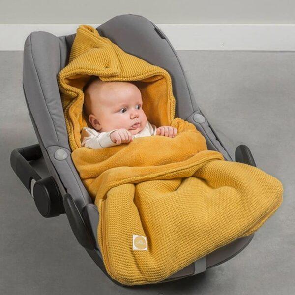 Śpiworek do fotelika i wózka Bliss Knit Ocher