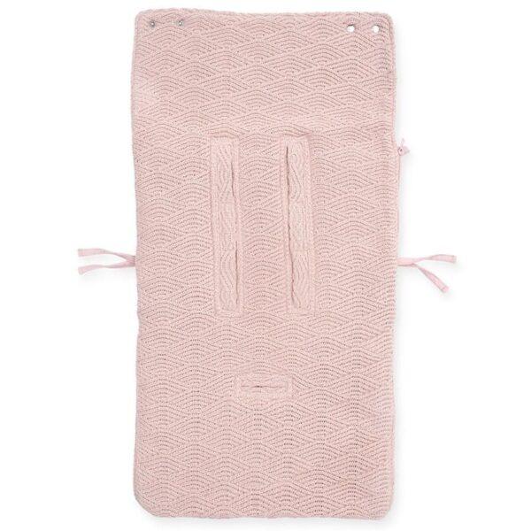 jollein spiworek oddychajacy do wozka i fotelika river knit pale pink 3 600x600 - Śpiworek do fotelika i wózka River Knit Pale Pink