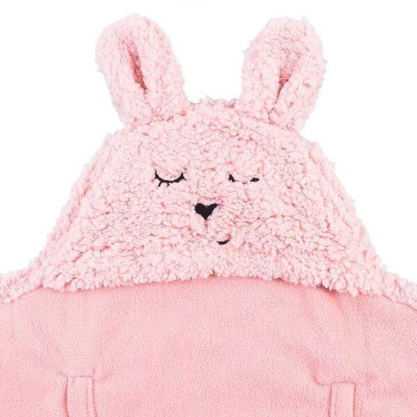 Śpiworek do fotelika i wózka Bunny Pink