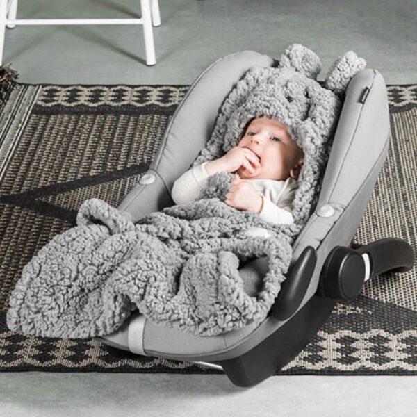 Śpiworek do fotelika i wózka Bunny Grey