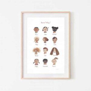 Plakat dla dzieci Uczucia Feelings Large