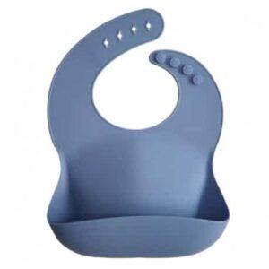 Śliniak silikonowy dla dziecka Powder Blue