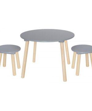 Stolik z krzesełkami dla dzieci srebrny