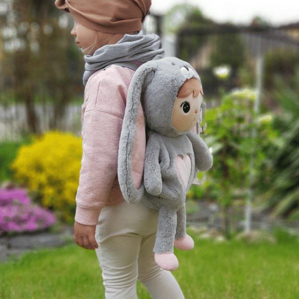 Plecak dla dziewczynki Szary Królik