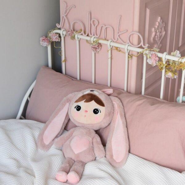 Przytulanka Królik różowy 46 cm