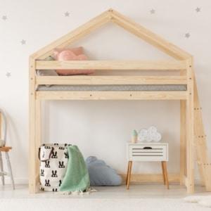 Łóżko piętrowe z antresolą 70x140