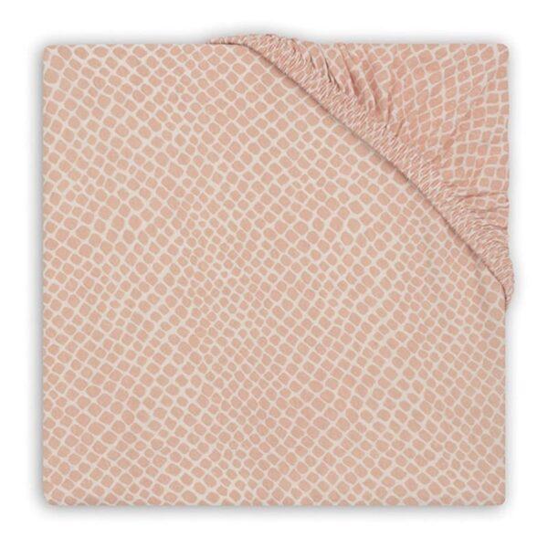 Prześcieradło do łóżeczka 60x120 Snake Pale Pink