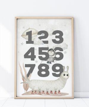 Plakat na ścianę Kosmiczne cyfry