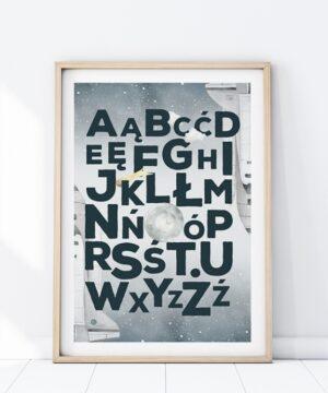 Plakat na ścianę Kosmiczny alfabet
