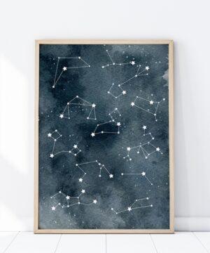 Plakat na ścianę Gwiezdne Konstalacje