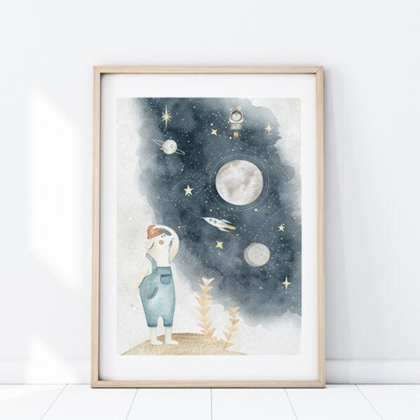 Plakat na ścianę z kosmicznym motywem
