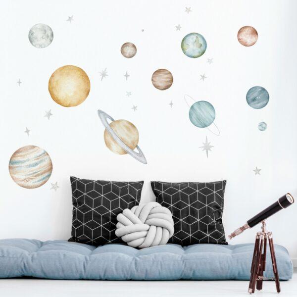 Naklejki zestaw kosmiczny Planety