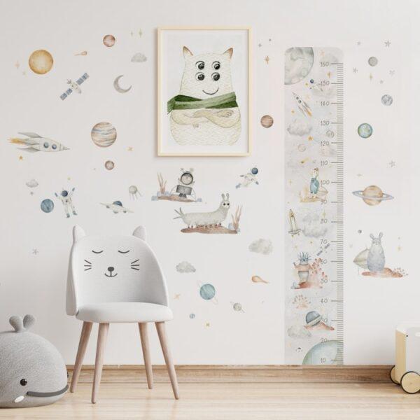 Naklejki na ścianę zestaw kosmiczny