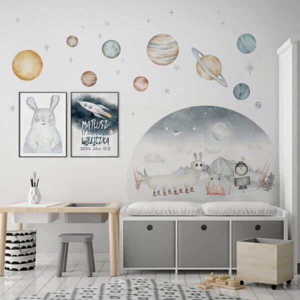 2 max 15 1 600x600 - Naklejki zestaw kosmiczny Planety
