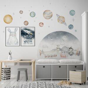 Plakat na ścianę Kosmiczna Metryczka