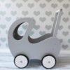 Wózek dla lalek szary